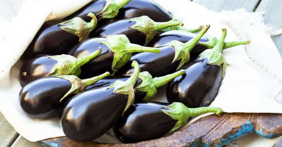 eggplants in a plate