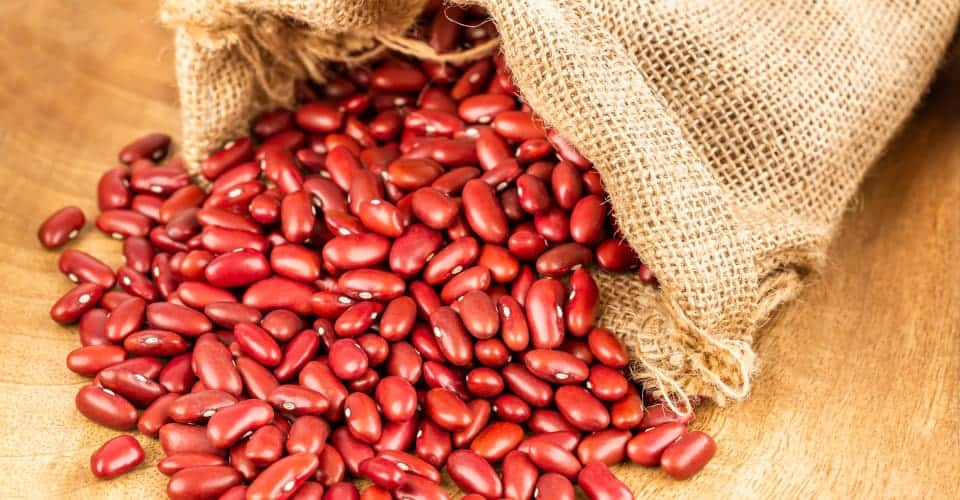 red beans in sack