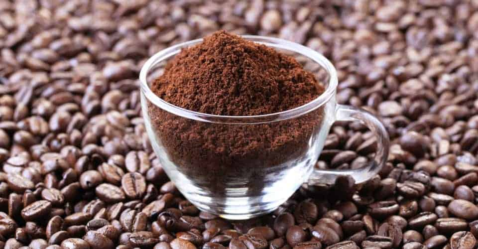 ground coffee in cup