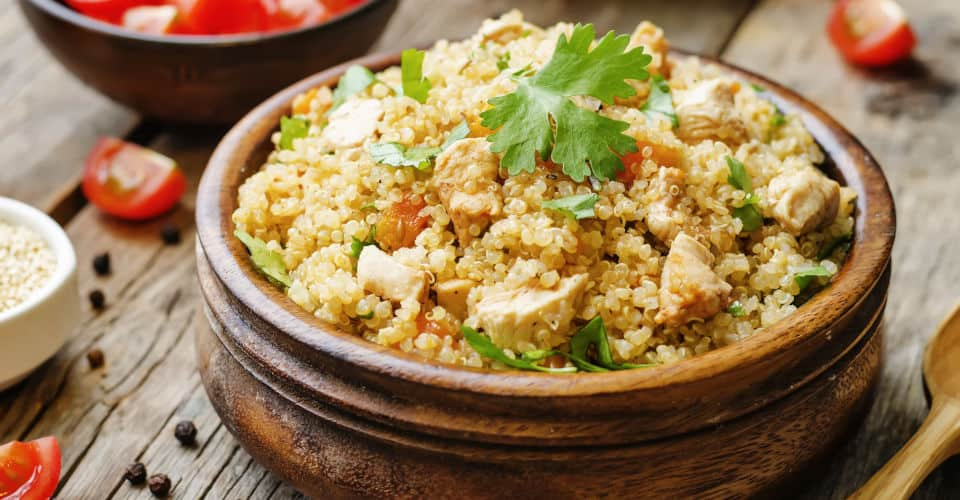 quinoa pilaf with chicken and vegetables