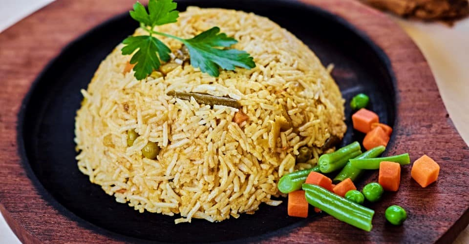 brown rice with herbs