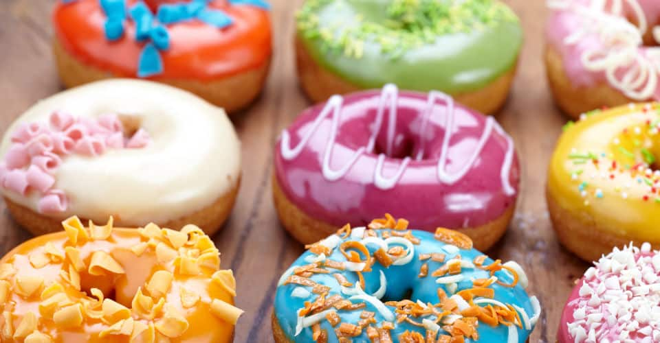 donuts with different colors