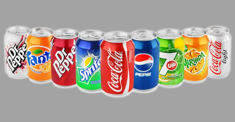 soft drinks in can