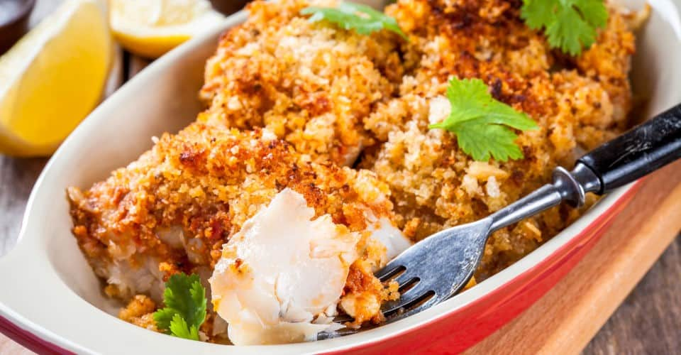 baked cod fish in breadcrumbs