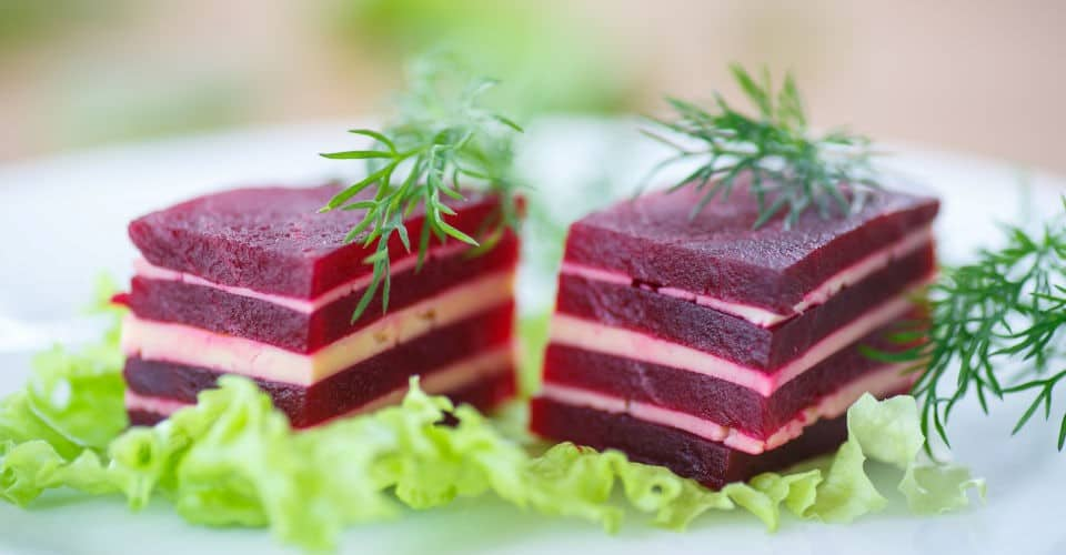 beet and cheese appetizer