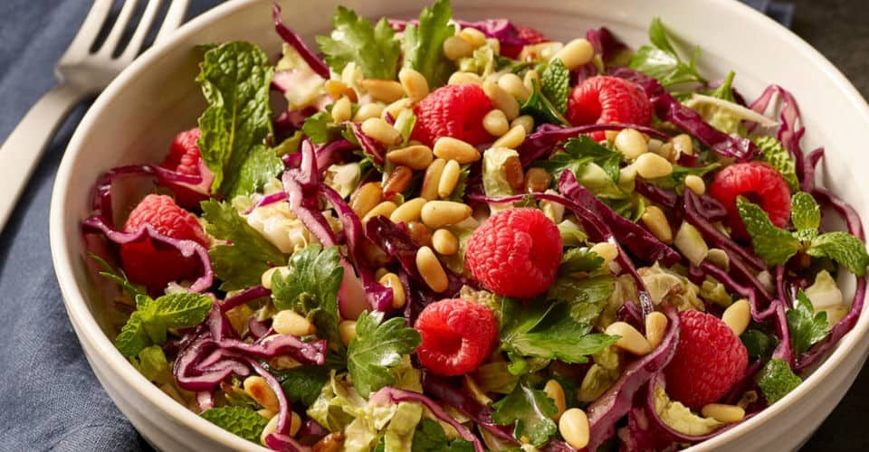 cabbage and pine nut salad