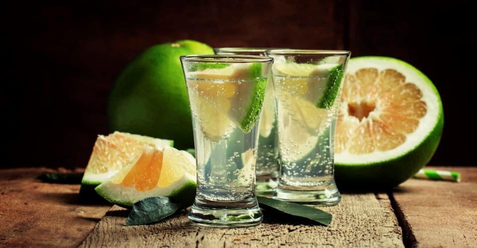 gin tonic and green grapefruit