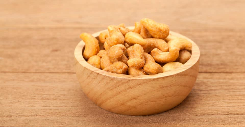 salted cashew nuts in bowl