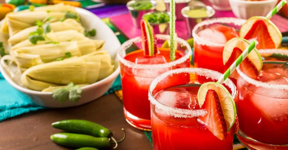 strawberry and lime margarita