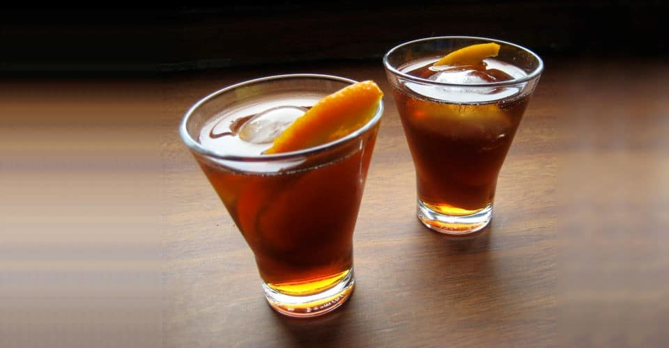 two glasses of vermouth