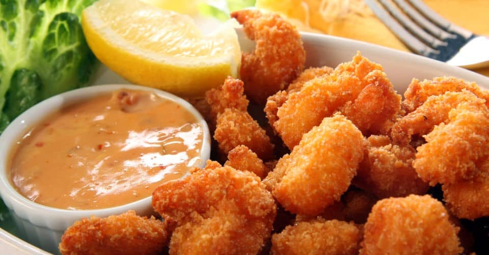 fried shrimp and cocktail sauce