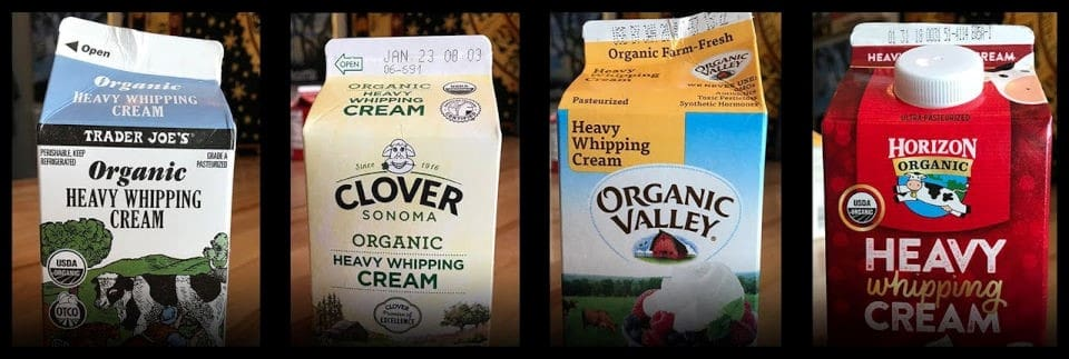 heavy whipping cream brands