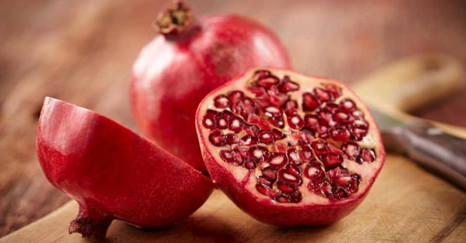 pomegranate fruit with arils