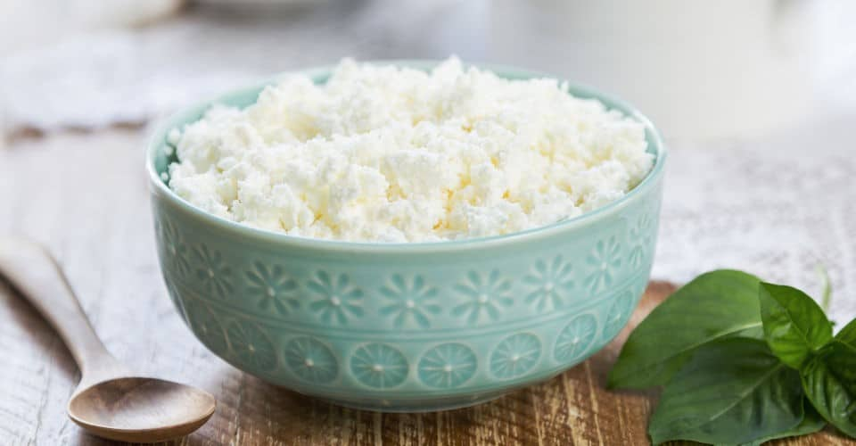 ricotta cheese in bowl