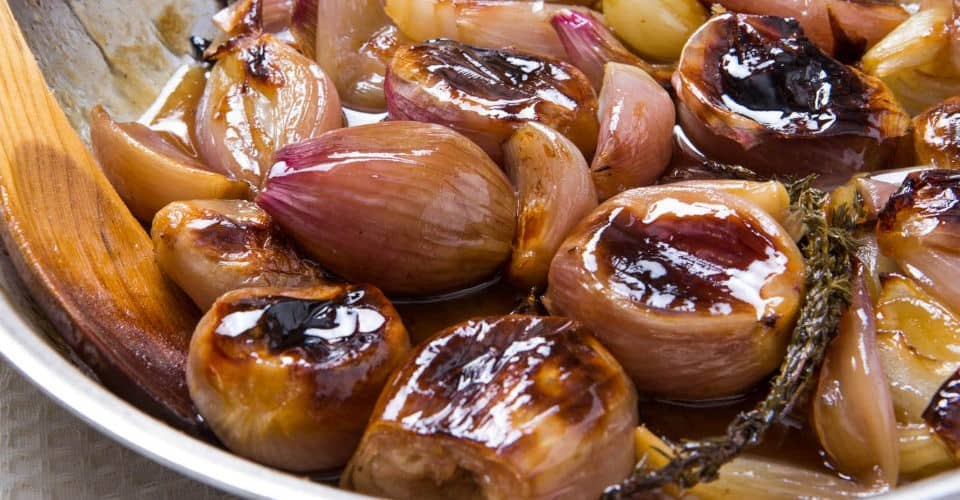 roasted shallots with special ingredients