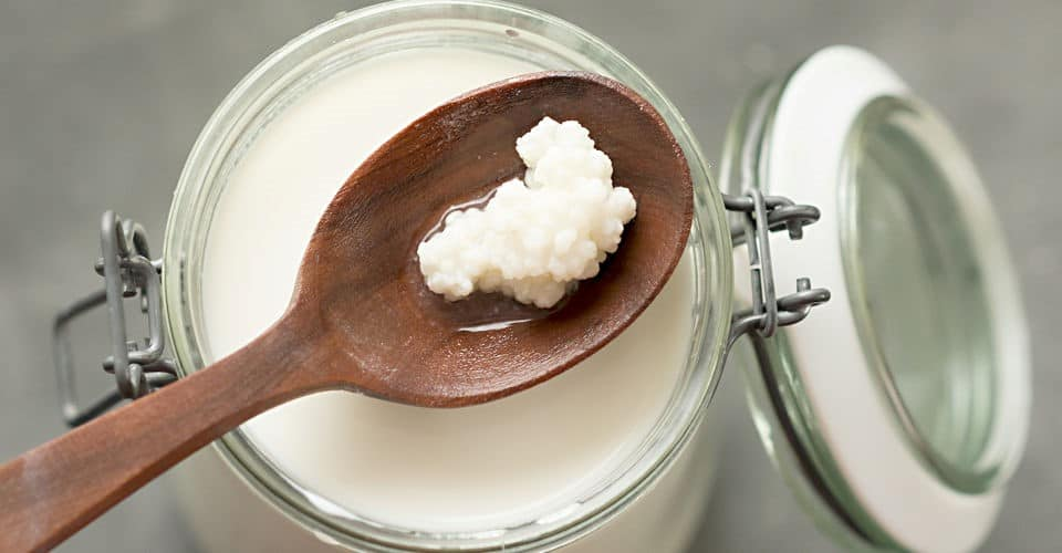 jar of milk kefir