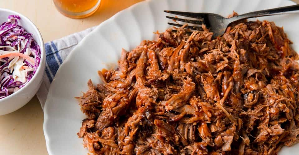 plate of pulled pork